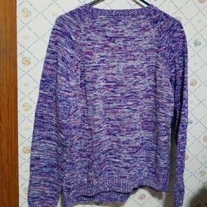 Lands' End purple Drifter sweater Sz XL 18 447080